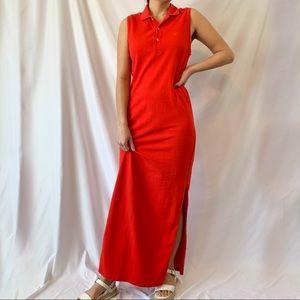Polo Sport Ralph Lauren Sleeveless Red Maxi Dress